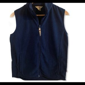 Woolrich Zip Up Fleece Navy Vest Size Small